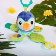 Bright Starts Spielzeug zum Anbringen an den Kinderwagen, Octopus, macht süße Glockentöne, dreht sich durch Ziehen im Kreis