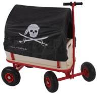 Bollerwagen Handwagen Leiterwagen Oliveira ~ ohne Sitz, mit Bremse, Dach Pirat schwarz