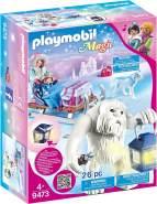 PLAYMOBIL Magic 9473 Schneetroll mit Schlitten und Lichteffekt, Ab 4 Jahren
