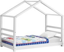 en.casa Hausbett Weiß 80x160 cm, inkl. Lattenrost
