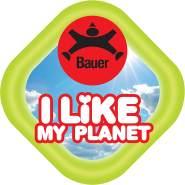 Bauer Spielwaren I Like My Planet - Eisbär: Kuscheltier aus softem Plüsch, hergestellt aus recycelten PET-Flaschen, 100 % recycelt, sitzend, 20 cm, weiß (12925)