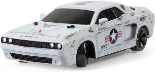 Revell Control 24473 RC Drift Car MAVERICK, cooles Design, wechselbare Reifen, Unterbodenbeleuchtung Ferngesteuertes Auto, silber
