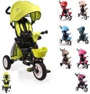 Byox Tricycle Flexy Lux 3 in 1 Dreirad, klappbar, Gummireifen, drehbarer Sitz grün