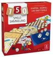 ASS Altenburger 22501344 Spielesammlung mit 150 Spielmöglichkeiten - mit Wer Hat Die 6, Mühle, Dame, Leiterspiel, Gänsespiel, Eile mit Weile, Würfelarena, Spielkarten, Knobelstäbchen und Mehr