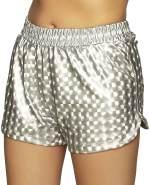Boland Hotpants sportliche Damen Silber Einheitsgröße