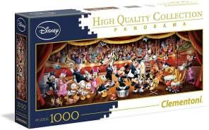 Clementoni 39445 Disney Orchestra Puzzle Panorama, 1000 Teile