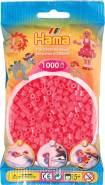 Hama Beutel mit 1000 Bügelperlen neon-cherry