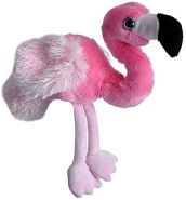 Wild Republic Hug'ems Plüschtier, Kuscheltier, Flamingo 18cm