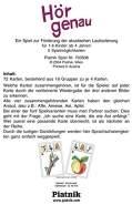 Piatnik - 703508 Hör genau