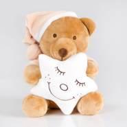Kuschelige Spieluhr/Musikuhr/Einschlafhilfe in versch. Motiven und Melodien, Melodien:Guten Abend, Spieluhren:Spieluhr Sleeping Bear Cream