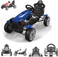 Byox Kinder Gokart, Tretauto, Matador, EVA-Kunststoffreifen, Bremse, ab 3 Jahren blau