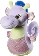 Bauer Spielwaren 'Blickfänger Glitter' Lashy Seepferdchen Plüschtier: Kuscheltier mit Glitzer-Augen, ideal zum Verschenken, 25 cm, lila (14263)