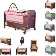Moni Reisebett Sleepy Rollen, Wickelauflage, Matratze, Spielbogen, Seiteneingang, Farbe:pink