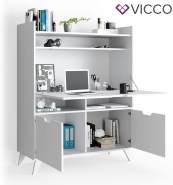 Vicco 'Berdi' Schrankschreibtisch, Weiß