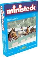 Ministeck 31703 - Pferdeköpfe 4in1, ca. 1.400 Teile