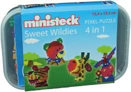 Ministeck 32575 - Sweet Wildies 4in1, ca. 510 Teile