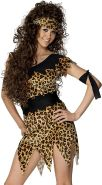 Smiffys Damen Höhlenfrau Kostüm, Tunika, Gürtel, Stirnband und Armband, Größe: M, 28600