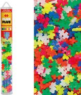 Plus-Plus 52228 - Bausteine Mini Neon Mix, 100 Stück