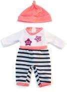Miniland 31632 Puppenkleidung, weiß, schwarz, rosa