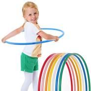 hoopomania® Kinder Hula Hoop Reifen, Durchmesser 80cm in Weiss