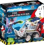 PLAYMOBIL Ghostbusters 9386 Spengler mit Käfigfahrzeug und Disc-Shooter, Ab 6 Jahren