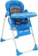 vidaXL Baby-Hochstuhl Blau und Grau
