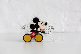 Disney Mickey Mouse Pull Along Zieh Holz Spielzeug