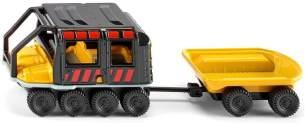 SIKU 1679, Geländefahrzeug Argo Avenger mit Anhänger, Metall/Kunststoff, Schwarz/Gelb, Abkoppelbarer Anhänger