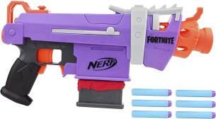 Nerf Fortnite SMG-E motorisierter Dart-Blaster – 6-Dart Clip-Magazin, 6 Nerf Elite Darts
