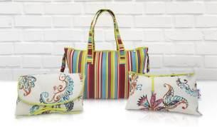 Belily-World Rainbow Shopper Bag - Wickeltasche Set