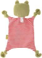 sigikid, Mädchen und Jungen, Schnuffeltuch Frosch Green Collection, Babyspielzeug, empfohlen ab 0 Monaten, rot/grün, 39189