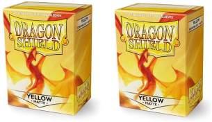 Arcane Tinmen ApS ART11014 Nein Dragon Shield Gelb (100 Stück), Matte Yellow