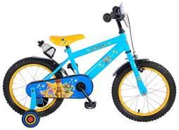 Disney Toy Story Kinderfahrrad in Gelb/Blau, 16 Zoll, inkl. Stützräder