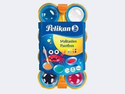 Pelikan Deckfarbkasten mini-friends, 8 Farben und 1 Pinsel