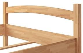Erst-Holz breites Einzelbett aus massiver Buche 120x200 cm inkl. Matratze und Rollrost, natur