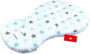 BABYLUX Kinderwagen 2 TLG SITZAUFLAGE Kissen 4. Blau + Sterne