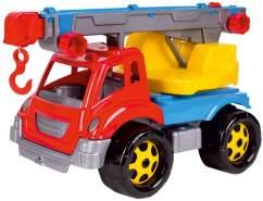 Bino & Mertens 83212 - Kranfahrzeug, bunt, aus hochwertigem Polypropylen. Ein Nutzfahrzeug für Drinnen und Draußen. Für Kinder im Alter ab 3 Jahren. Größe ca. 36x21x23 cm.