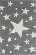 Livone 'Estrella' Kinderteppich 100x160 cm, silbergrau/weiss
