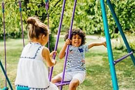 Pflaume Helios II Outdoor Play Metall Garten Swing Set