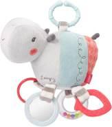 FEHN 059052 Activity-Nilpferd mit Ring / Motorikspielzeug zum Aufhängen mit spannenden Anhängern zum Greifen und Geräusche erzeugen - für Babys und Kleinkinder ab 0+ Monaten