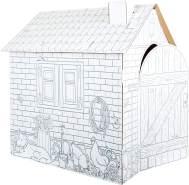 Spielhaus Häuschen aus Bastelkarton