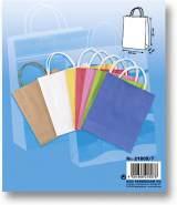 folia 21809/7 - Papiertüten aus Kraftpapier, Geschenktüten, 7 Stück, ca. 18 x 8 x 21 cm, farbig sortiert - zum Basteln, Verzieren und Verschenken