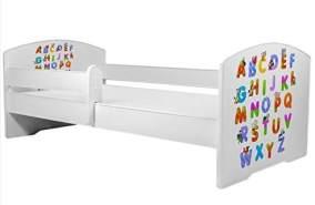 Angelbeds 'Luk2 Luk' Kinderbett 80 x 160 cm, Motiv 29, mit Lattenrost, Matratze und mit Bettschublade