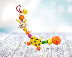 Selecta 61022 Collini Giraffe, Schnullerkette, 21 cm