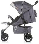 Chiplino Kinderwagen Buggy Mixie, klappbar, schwenkbare Vorderräder, Sonnendach grau