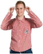 Folat 63366 Oktoberfest Hemd, M/L, rot
