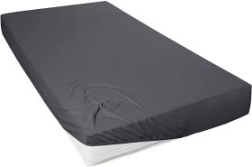 Primera Mako-Feinjersey Jersey-Spannbetttuch anthrazit 90x190-100x200 cm