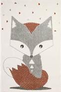 Art for Kids Kinderteppich Fuchs 100x150