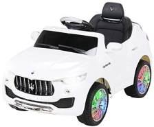 Kinder Elektro Auto MASERATI LEVANTE SUV Kinderauto Elektrofahrzeug Elektroauto (Weiß)