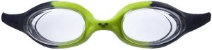 arena Kinder Unisex Training Wettkampf Schwimmbrille Spider Junior (UV-Schutz, Anti-Fog, Harte Gläser), Navy-Clear-Citronella (71), One Size